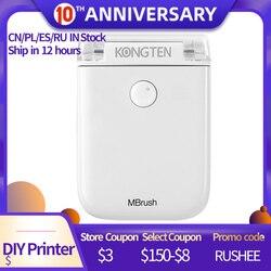 IN MAGAZZINO Mbrush Bluetooth mobile portatile Stampante A Colori (Cubo)-Il Più Piccolo del Mondo Stampante Con WIFI USB di Collegamento 6 Ore Workin