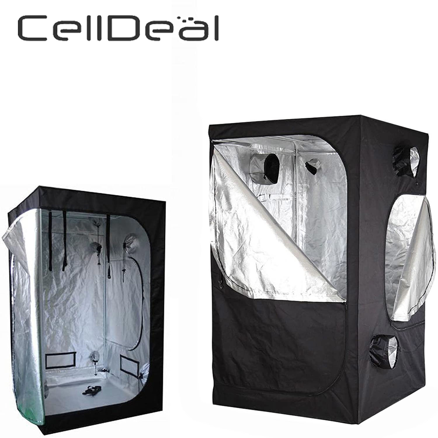CellDeal Growbox Cabinet Growbox Culture Grow Box Greenhouse In Tent 80 X 80 X 160 Cm Grow Tent Oxford Cloth Polyester Vegetable