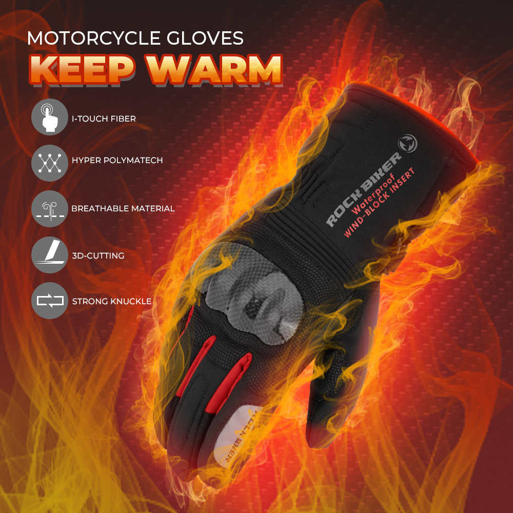 New 2019 Universal Winter Motorcycle Gloves Waterproof Warm Moto Guantes Touch Screen Anti-Slip Riding Gloves Carbon Protective