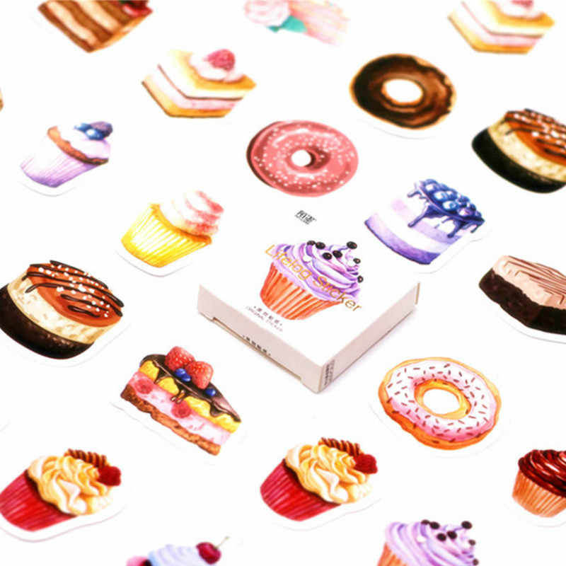 40Pcs/Pack Purple Cake Stationery Stickers Doodling Travel DIY Sticker Car Motorcycle Luggage Laptop Bike Scooter Toys