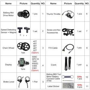Image 3 - Bafang 48 в 500 Вт BBS02B Ebike комплекты средних коленчатых приводов для электровелосипеда Фотоэлементы с ЖК дисплеем Фотоэлементы P850C 500C C965 дисплей