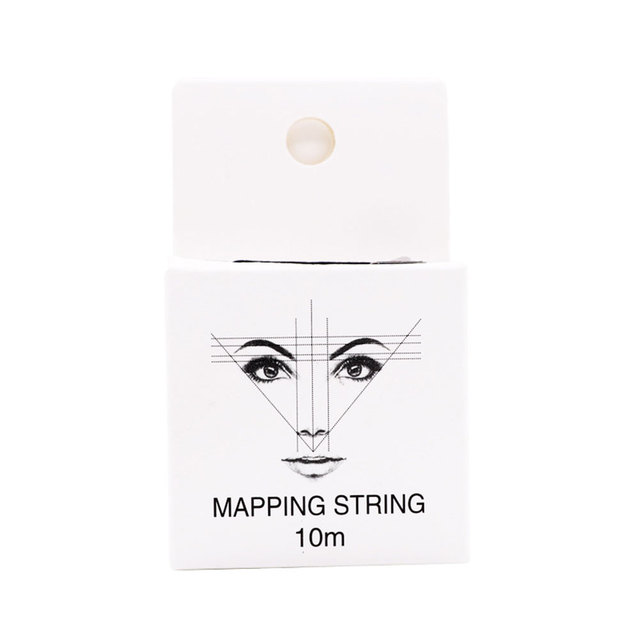 10m 2pcs Measuring Ultra Thin Pre Inked Mapping String Brows Point Eyebrow Marker Thread Permanent Microblading Positioning 1