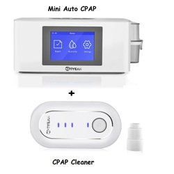 Moyeah Mini Automatische Cpap Machine Reizen Apap Medische Ventilator Met Cpap Cleaner Sanitizer Slaap Masker Apneu Anti Snurken