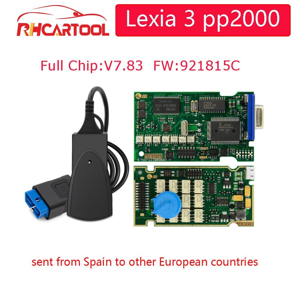 Lexia 3 pp2000 pełny Chip Lexia3 V48/V25 najnowszy Diagbox V7.83 PP2000 Lexia-3 Firmware 921815C PSA COM dla Peugeot narzędzie diagnostyczne