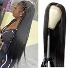 LINKELIN волосы прямые Синтетические волосы на кружеве парик человеческих волос Синтетические волосы на кружеве al парик 150% Плотность 13X4 бразил...