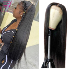 LINKELIN HAIR Peruvian Straight Lace Front Human Hair Wigs Straight 13X4 Lace Front Wig Remy Lace Frontal Wig 150% Density