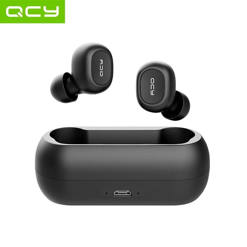 Qcy qs1 fone de ouvido tws bluetooth 5.0, fone auricular, 3d stereo, sem fio com dois microfones