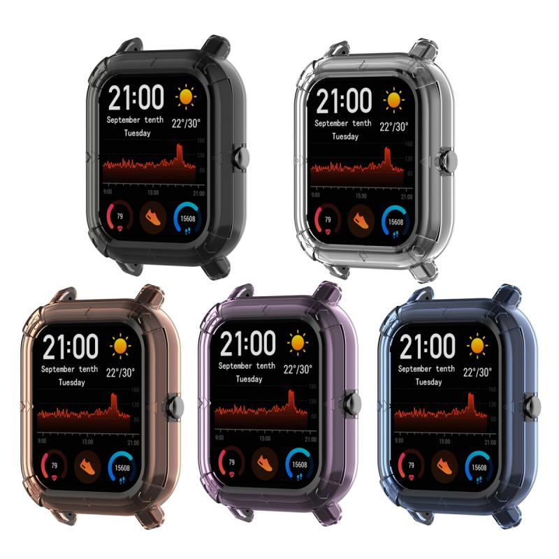 Applicable To Huami Amazfit GTS Mi Moving Health Watch Shatter-resistant Sleeve A1913 Half-pack Tpu Protective Shell