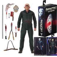 Original NECA Horror Friday the 13th Jason Ultimate Part 5 Roy Burns Action Figure Toy Dolls Christmas Gift