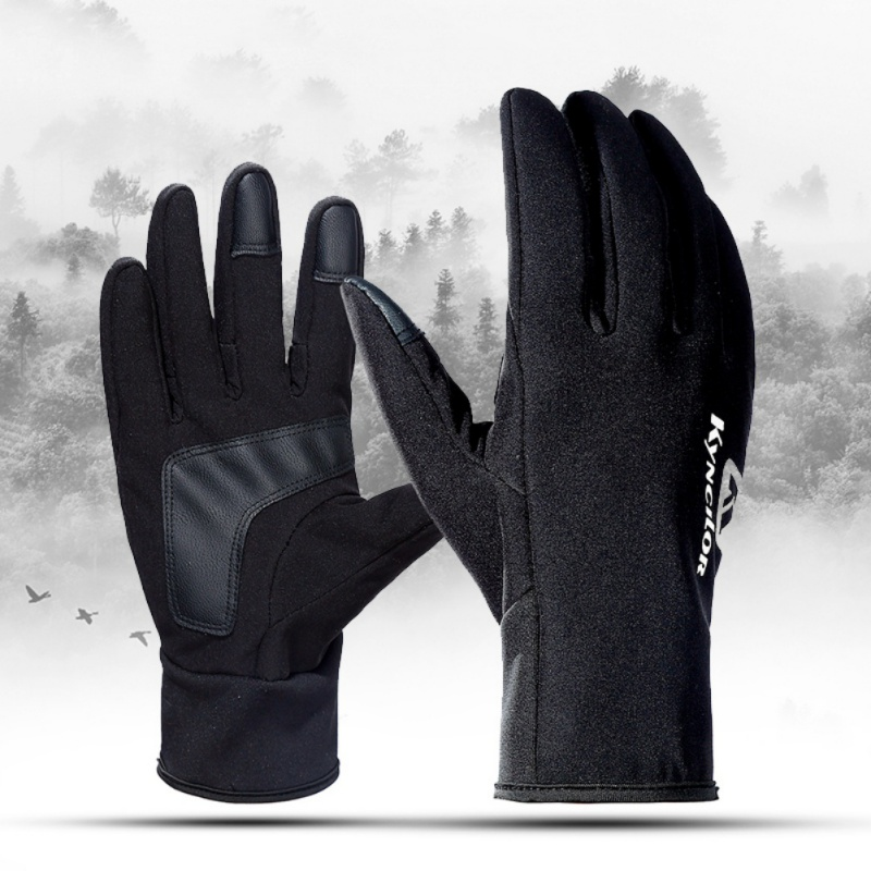Skiing Gloves  Touch Screen Unisex Cold Weather Windproof Antislip Thickness Warm Fleece Inner Adjustable Full Finger Gloves