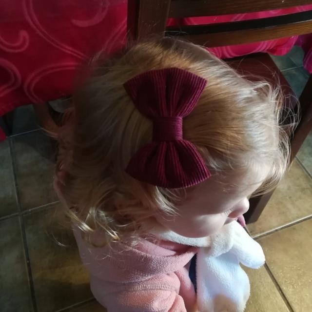 Baby Girl Hair Clips Bows Children Corduroy Barrette Kids Spring Summer Vintage Hairpins Toddler Party Hairgrips Duckbill Clip