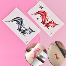 1Sheet Fox Design Waterproof Tattoo Sticker Fake Tattoo Animal Fox Temporary Tattoo For Women Body Art(China)