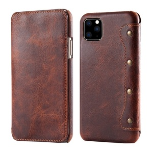 Image 3 - Solque Genuine Leather Flip Book Case For iPhone 11 12 Pro Max Mini Phone Cover Luxury Retro Vintage Card Holder Wallet Cases