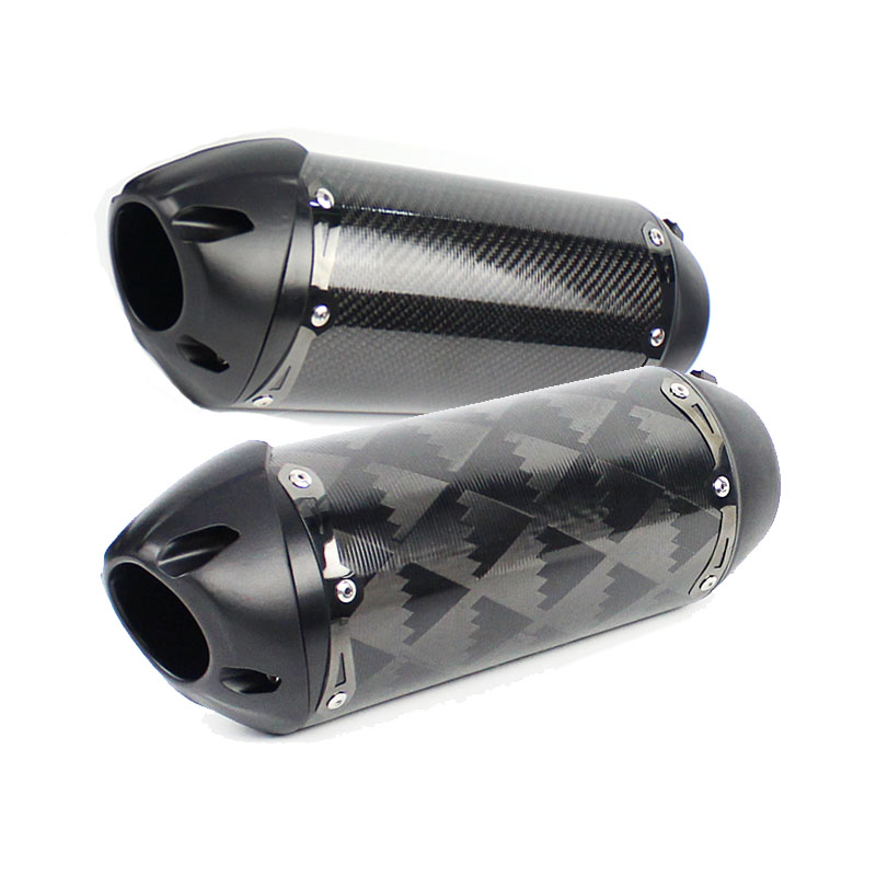 51mm Motorcycle Exhaust Pipe TWO Brother CNC carbon Muffler ESCAPE Moto For royal enfield motocross cb650f z900 z1000 cb1000r