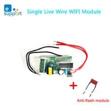 EWeLink Módulo WIFI de cable en vivo, mini interruptor de luz con temporizador, Módulo de Control Remoto, funciona con Alexa