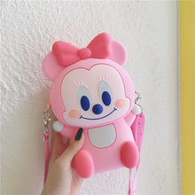 Cartoon Zipper Wallet Phone Handbags For Iphone 5 5s 6 6s Plus 7 8 X XR XS Max Soft Silicone Coin Purse Bag Cover