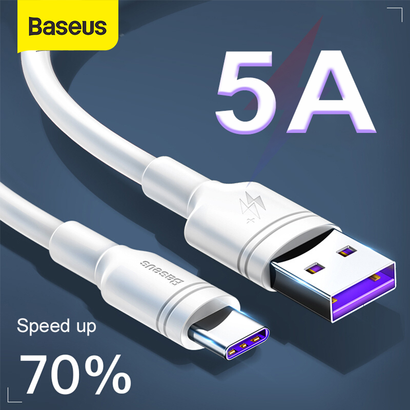 Baseus 5A USB Type C Cable For P30 Mate 20 Pro P20 Quick Charge For Xiaomi USB C Fast Charger Data Cable Charging Wire