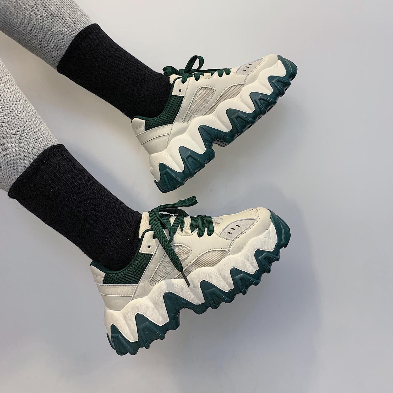 2020 Women Shoes Casual Tenis Chunky Platform Sneakers Basket Femme New Luxury Shoes Woman Feminino Ladies Shoes Increase 5cm