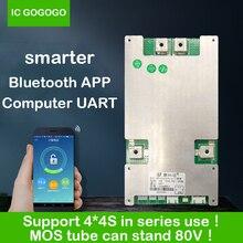 JBD smart BMS 4S 12V pakiety w serii 8S 16S 60A 80A 100A 120A 150A Li ion 3.7V płyta zabezpieczająca baterię litową Bluetooth APP PC