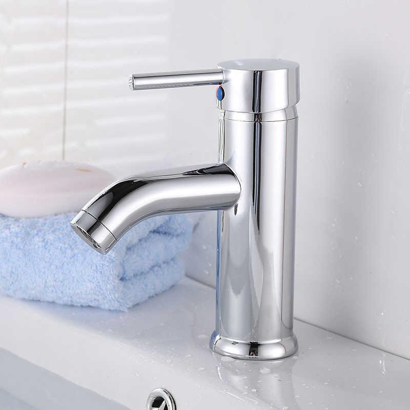 Ze stali nierdzewnej bateria umywalkowa łazienka kran do zlewu jednouchwytowa kran toaleta Tall statku kran wody zimnej ciepłej mikser kranu
