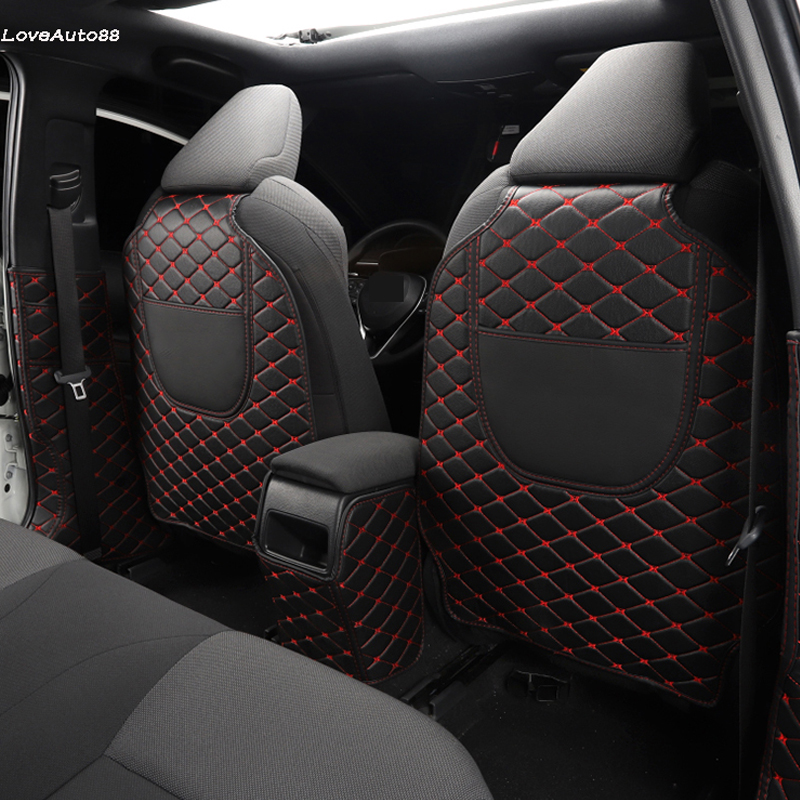 Car All Inclusive Rear Seat Anti-Kick Pad Rear Backrest Seats Cover B Pillar Protective Mat For Toyota Corolla 2019 2020
