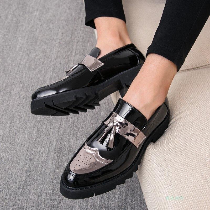 Men Dress Shoes Quality Men Formal Shoes Lace-up Men Business Oxford Shoes Brand Men Wedding Pointy Shoes