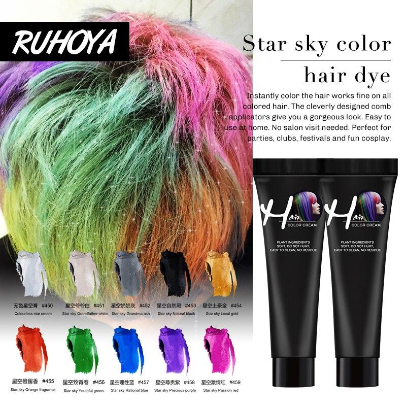 Temporary Hair Dye Spray DIY Hair Color Wax Washable 9 Colors Long Hair Styling Hair Coloring Not Hurt Hair Fast
