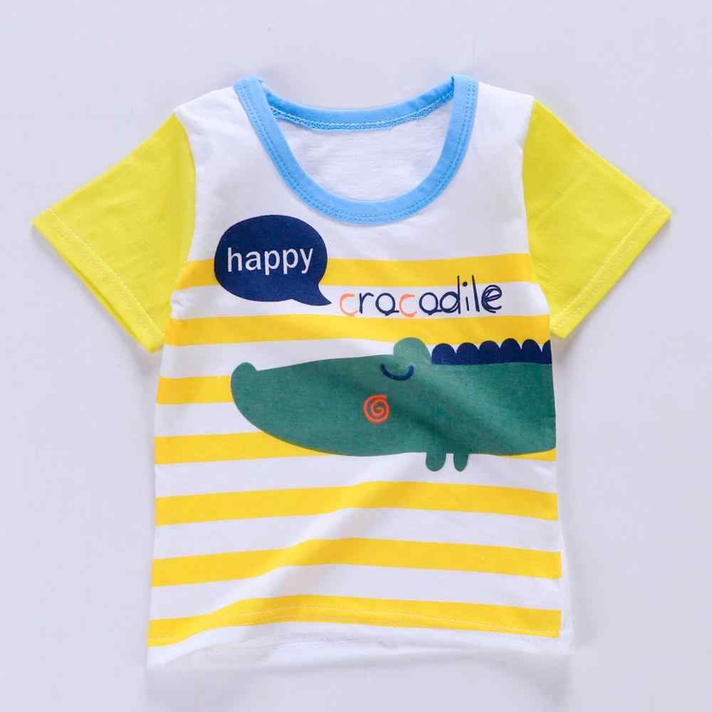 summer kids clothes Casual Kid Boy Cartoon Aircraft Print Baby Boys Outfits O-Neck Short Sleeve 2020 toddler boy clothes Set