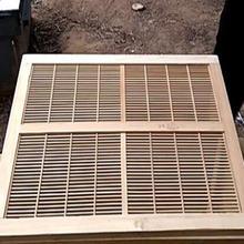 Плоская панель из бамбука 51*41 см плоская изоляционная для