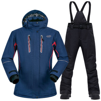 Women Ski Suit Brands New High Quality Waterproof Thicken Warm Jacket Pants -30 Degree Winter Skiing and Snowboarding Suits