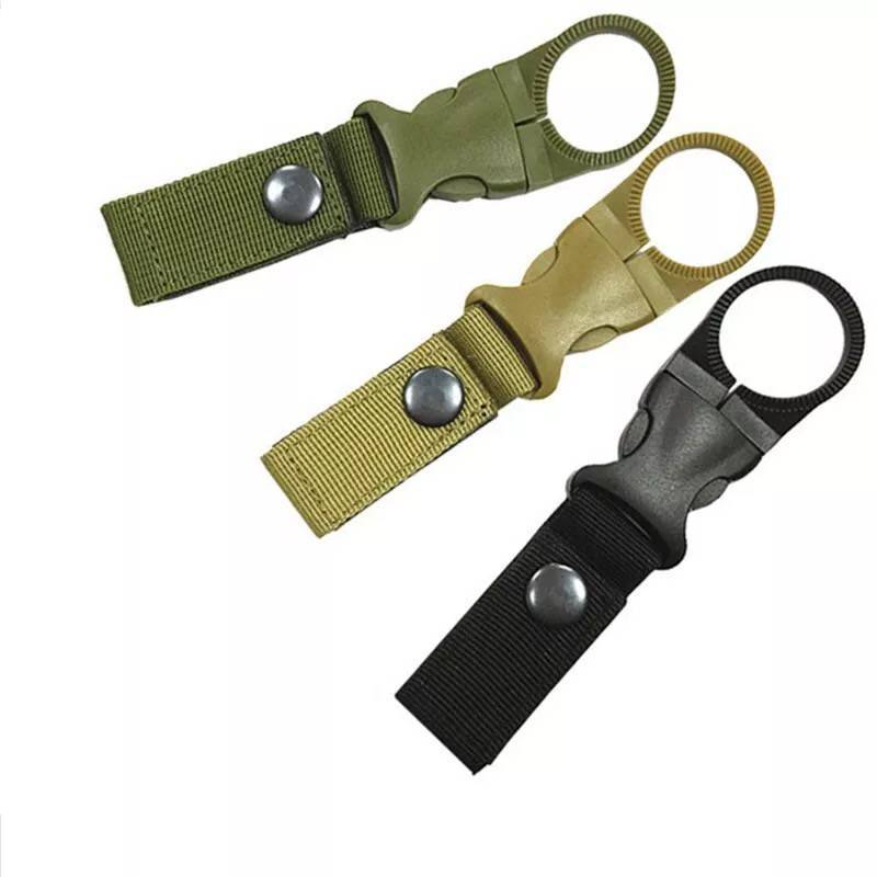 2019 Outdoor Military Nylon Strap Buckle Hook Water Bottle Holder Clip EDC Carabiner Belt Backpack Hanger Camp