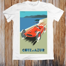 Póster de viaje VINTAGE COTE DAZURE, camiseta UNISEX de RIVIERA francesa, Camiseta con estampado de jurney, camiseta fresca xxxtentacion, camiseta con manga