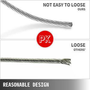 Image 5 - 1/8in x 500ft paslanmaz çelik kablo korkuluk 7x7 iplikçikler İnşaat güverte ray korkuluk merdiven küpeşte sundurma tel çit halat