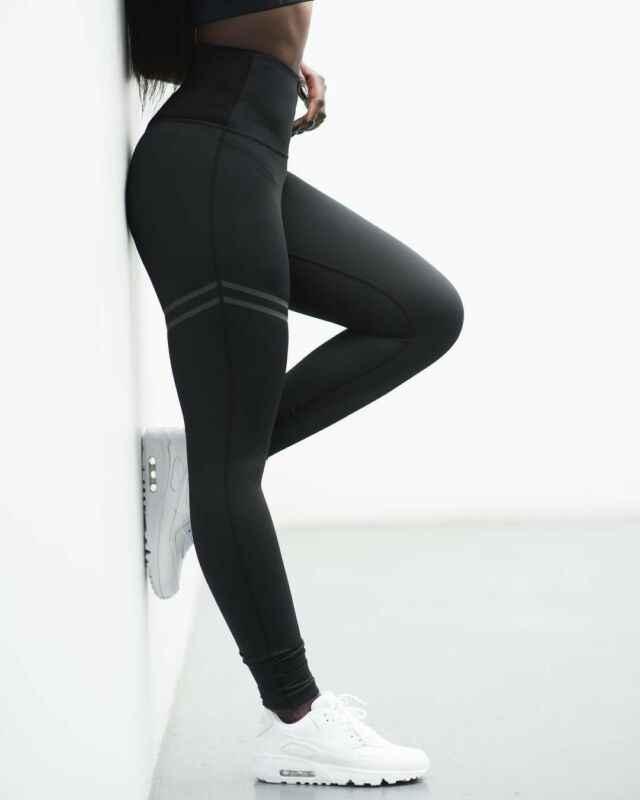 Celana Kebugaran Legging Dicetak Pinggang Tinggi Celana Lari Gym Olahraga Joging Celana Celana