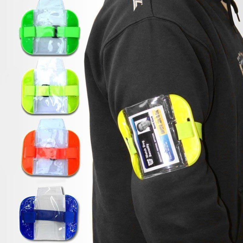 Card Sleeve Durable Practical High Visibility PVC Work Badge Id Card Holder Transparent Office Waterproof Arm Band