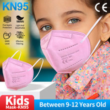 Mascarilla facial FFP2 Multicolor para niños, máscara KN95 con filtro, reutilizable, 5 capas, máscaras de respirador, tapabocas