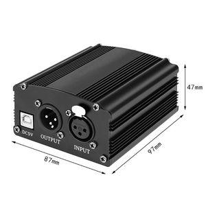 Image 2 - المحمولة 1 قناة 48 فولت USB فانتوم الطاقة كابل يو اس بي XLR 3Pin كابل مايكروفون لأي مكثف الميكروفونات اكسسوارات دروبشيب