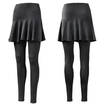 Hurtownia wiosenna i jesienna w nowym stylu spódnica sportowa damska elastyczność obcisłe spodnie dwuczęściowy zestaw czarno-biały z wzorem tanie i dobre opinie Solid Color China NAIM 049 Trousers Skirt