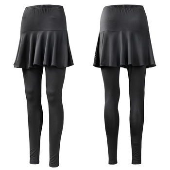 Hurtownia wiosenna i jesienna w nowym stylu spódnica sportowa damska elastyczność obcisłe spodnie dwuczęściowy zestaw czarno-biały z wzorem tanie i dobre opinie