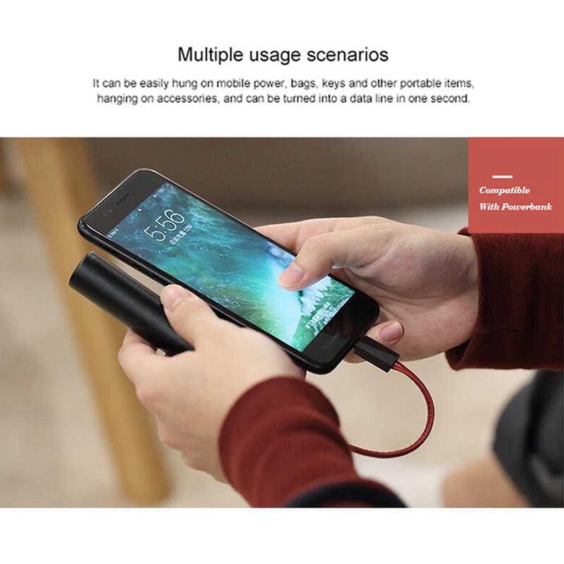 8 ピン usb ケーブル iphone 高速充電ケーブル iphone 11 プロ x xs 最大 xr 8 7 6 6s 5s usb c usb キーホルダー革