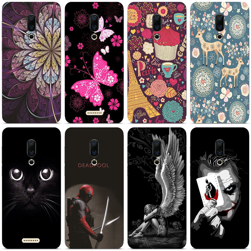 Silicone Printed phone Case for <font><b>Meizu</b></font> <font><b>16</b></font> 16th cases soft TPU Phone Back cover full <font><b>360</b></font> Protective shell new design bag image