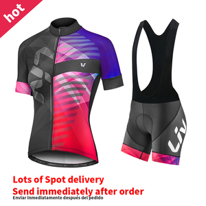 Same day delivery 2020 Liv purple Cycling team jersey bike shors set woman quick dry pro BICYCLING Maillot Culotte clothing