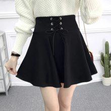 Saia feminina preta plissada de cintura alta tamanho grande coreano moda casual mini saias de verão para meninas estilo jovem