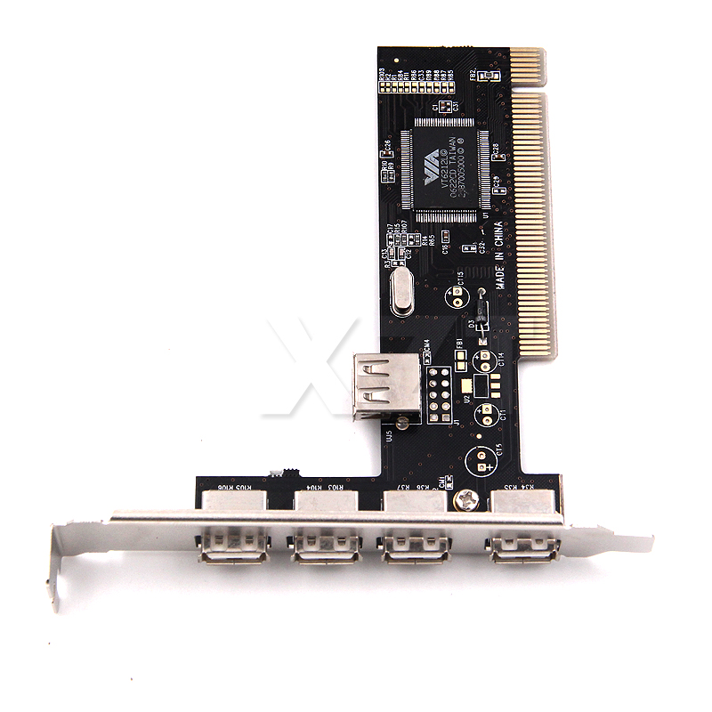 USB 2.0 4 Port 480Mbps High Speed VIA HUB PCI Controller Card Adapter PCI Cards For Vista Windows ME XP 2000 98 SE Hot Sale