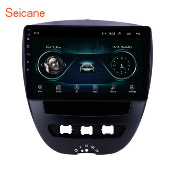 Seicane 10.1 inch Android 8.1 Car GPS Navigation Radio for 2005-2014 Peugeot 107 support TPMS DVR Carplay Rearview camera DAB+ image