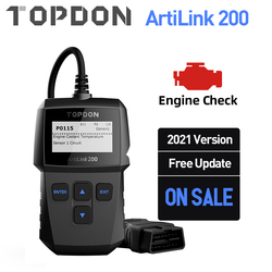 TOPDON AL200 OBD2 Scanner Car OBDII Diagnostic Tool Auto Code Reader Fault Code Read Engine Check Smog Test Turn Off IML