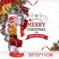 Кукла Санта Клауса, Рождественская кукла Санта Клауса, электрическая Поющая танцевальная игрушка, новогодний подарок, Рождественская елка,...