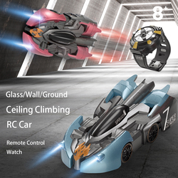 Wall Climbing Car 2.4G 4CH Gesture Sensing Rc Stunt Car  Anti-gravity 360 Rotating  Boy Toy  with Remote Control Watch Kids Toys