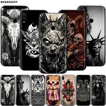 Satanic Scary Skull Case for Xiaomi Redmi 4A 4X 5 5A 6 6A 7 7A S2 Note Go K20 Pro Plus Prime 8T(China)