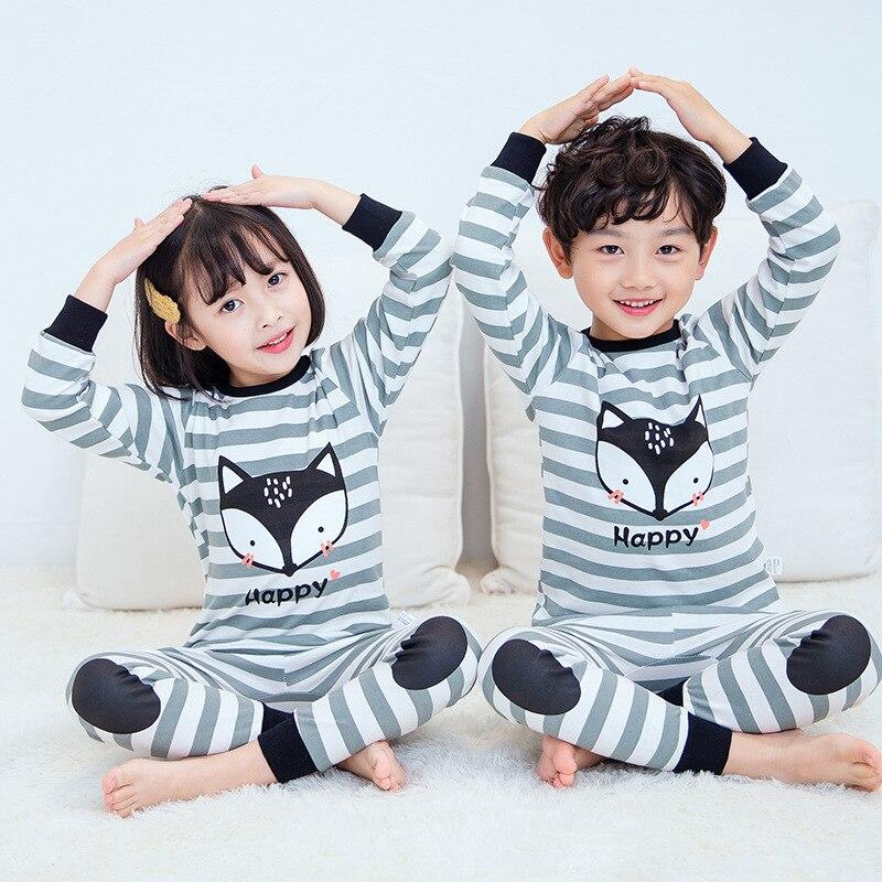 New Autumn Boys Girls Sleepwear Cartoon Pajamas Sets Long Sleeved Pyjamas Kids Children's Homewear Night Suit Pijama Infantil 5